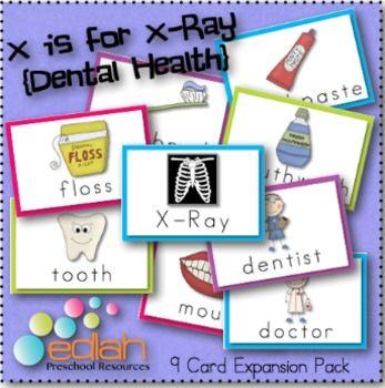 Dental Health Word Wall Cards (set of 9)
