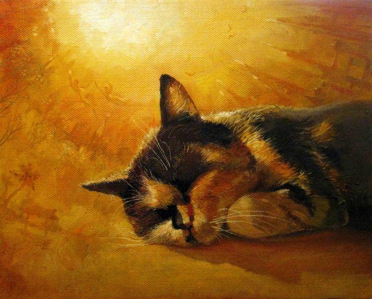 Картины (живопись) : Оранжевые сны