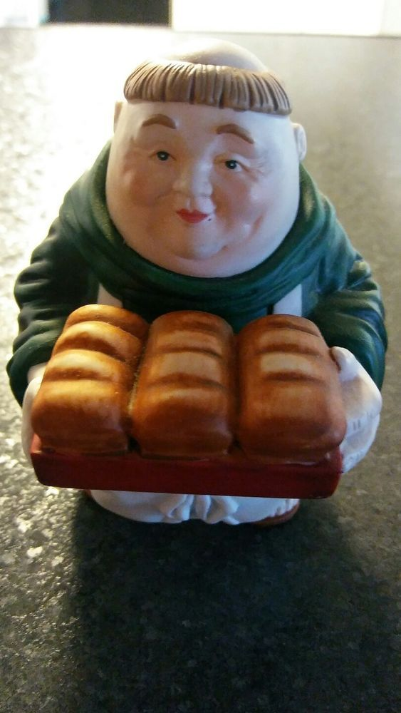 Department 56 Merry Makers Friar/Monk Figurine Barnaby The Bread Man Collectible #Department56