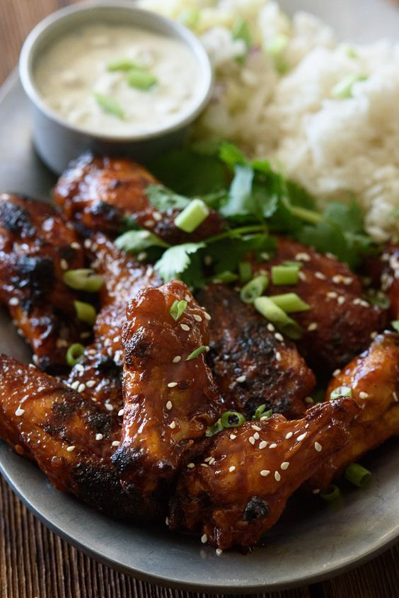 You maynever fry a chicken wing again after you taste thesecrispy oven baked chicken wings! Get all the tricks & tips and our delicious sticky sauce.