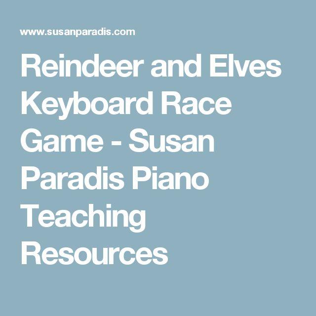 Reindeer and Elves Keyboard Race Game - Susan Paradis Piano Teaching Resources