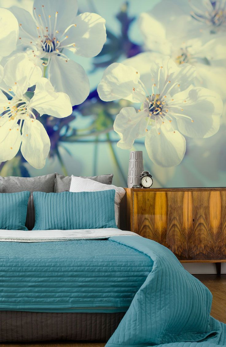 Cherry Blossoms Wallpaper Wallsauce Us Bedroom Wallpaper Accent Wall Wallpaper Bedroom Flower Bedroom