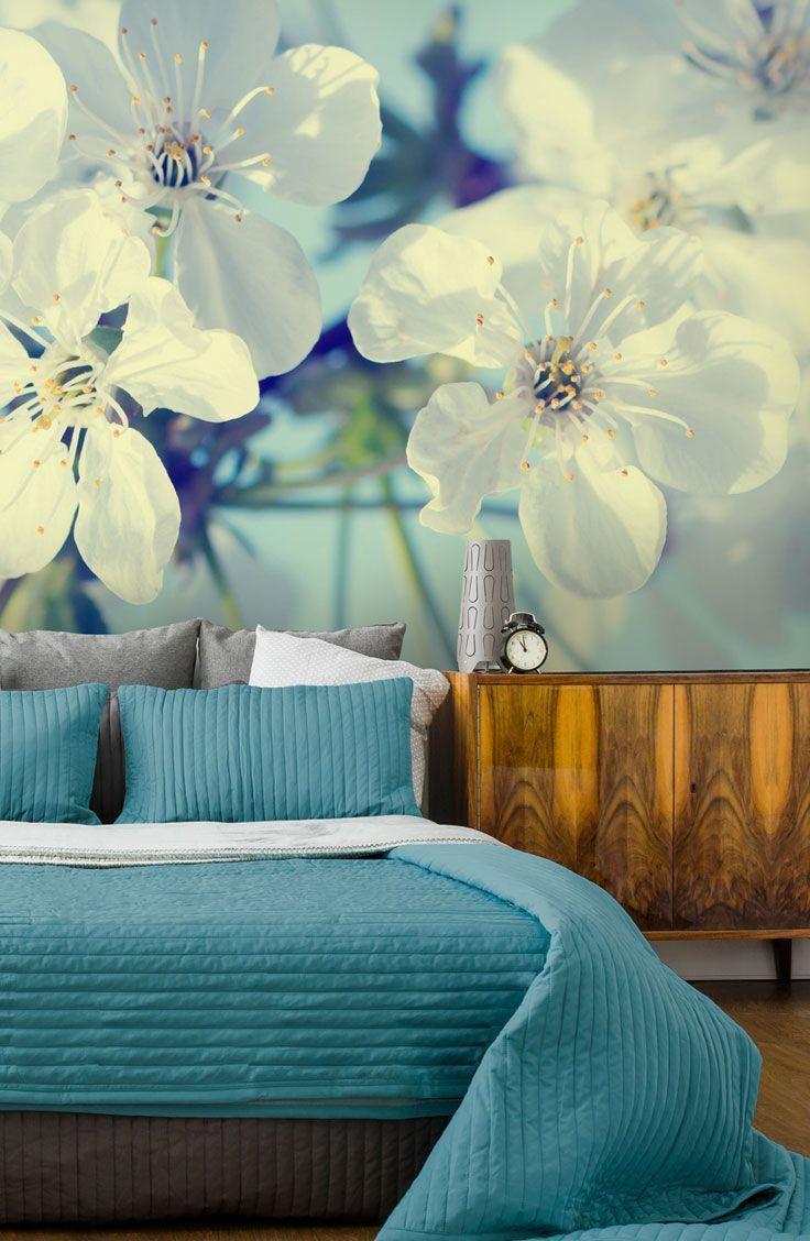 Cherry Blossoms Wallpaper Wallsauce Us Bedroom Wallpaper Accent Wall Wallpaper Bedroom Flower Bedroom