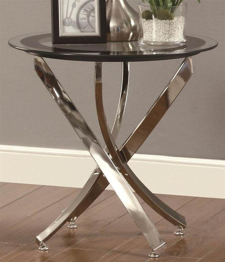 Chrome Glass End Tables