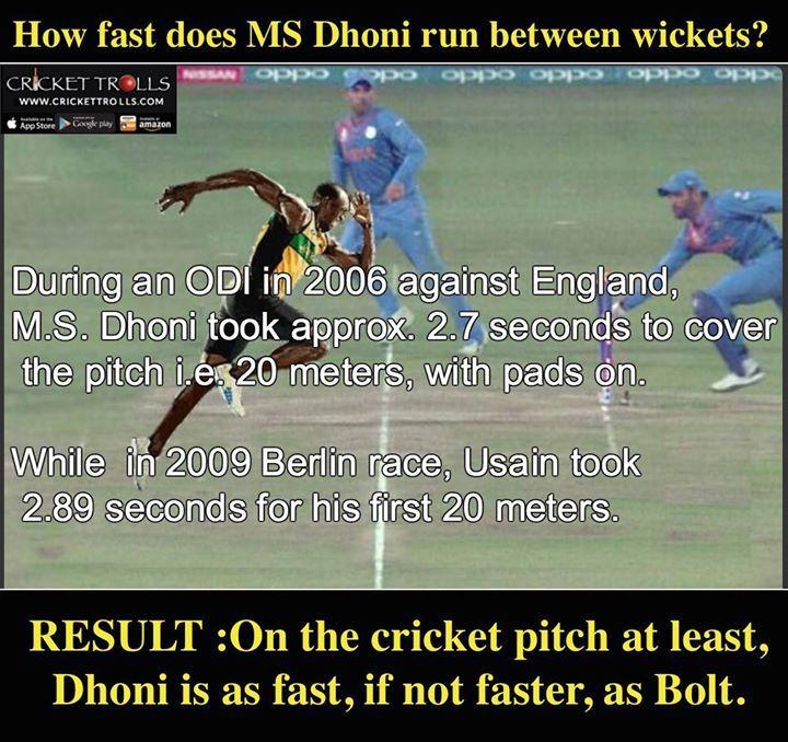 When MS Dhoni did a Usain Bolt! For more cricket fun click: http://ift.tt/2gY9BIZ - http://ift.tt/1ZZ3e4d