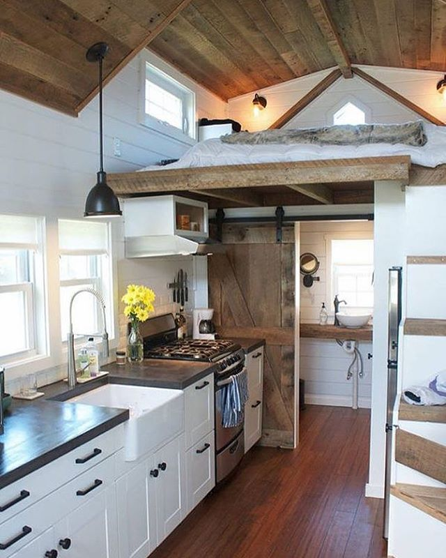 """""""The """"Modern Farmhouse"""" built by Liberation Tiny Homes in Pennsylvania"""""""