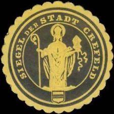 Krefeld: Siegel der Stadt Krefeld Siegelmarke