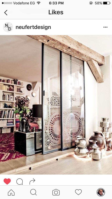 Die Gleittüren Aus Mattglas Sind Die Vollkommenen Raumteiler, Denn Sie  Bieten Den Hausbesitzern Privatheit In Jedem Moment... Schiebetüren Als  Raumteiler