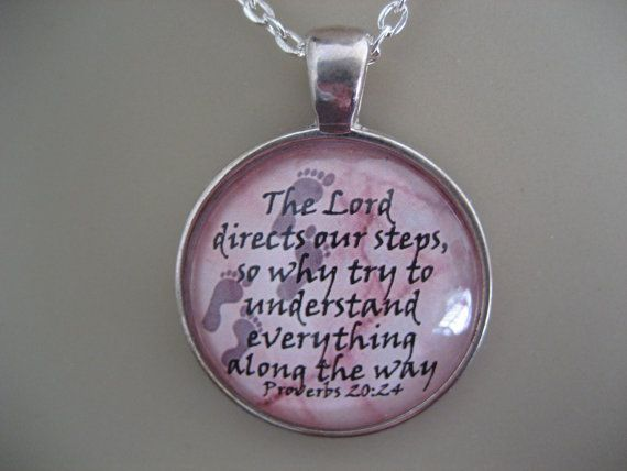 Bible Verse Pendant Necklace Proverbs 2024 The by TheVerseWithin, $15.00