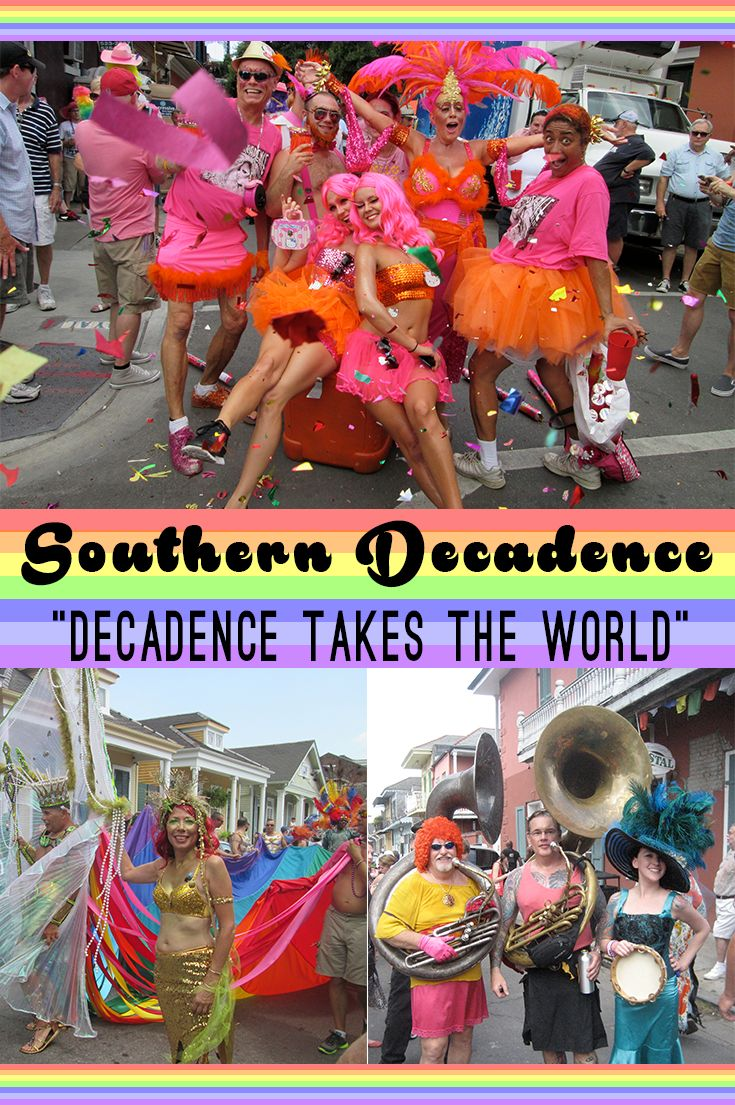 Join us in New Orleans for Southern Decadence, the biggest party of the year in the gay and lesbian community, over Labor Day weekend in the French Quarter.