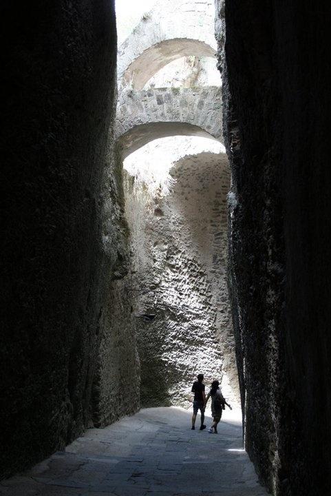 Inside Castello Aragonese, Ischia