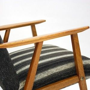 Skandinavisk vintage lenestol, detalj