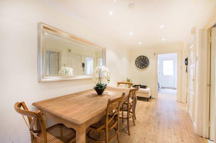 Dining room basement flat London W2 #cutlerandbond #basementflat #gardenflat #londonproperty
