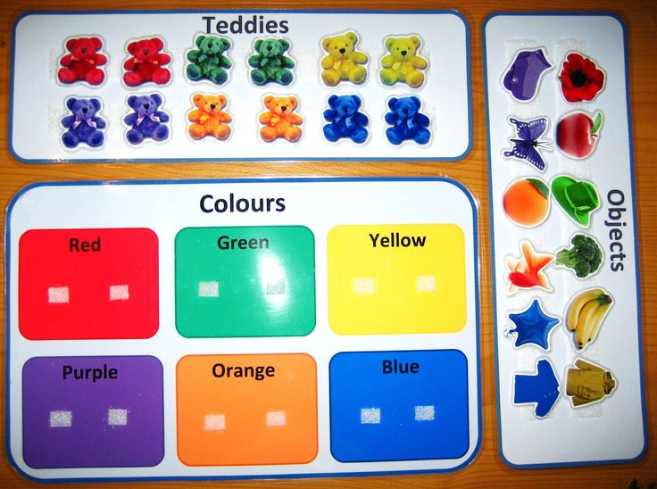 Teddies and Objects Colors PDF - Fun Colorful Printable File Folder Game for Teaching Colors. Great Autism Aspergers ABA Resource. asd sen. $7.00, via Etsy.