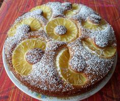 Torta morbida all'ananas