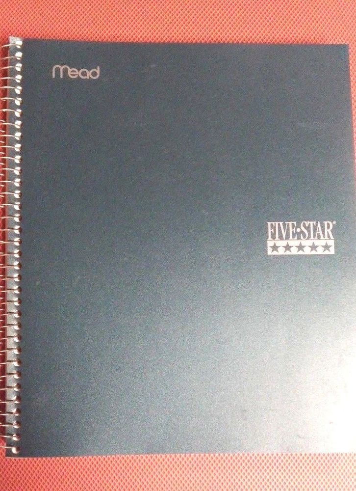 Vintage Mead Five Star Spiral Notebook 3 Subject College