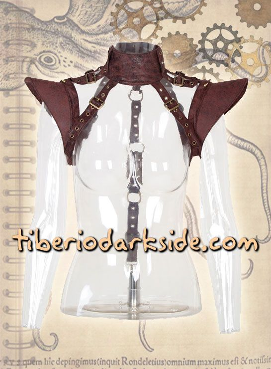 BROWN STEAMPUNK SHOULDER HARNESS