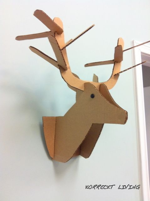 image result for cardboard stag head template to do pinterest