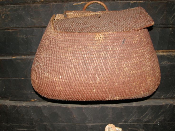 old bark bag (coated with earth colour)