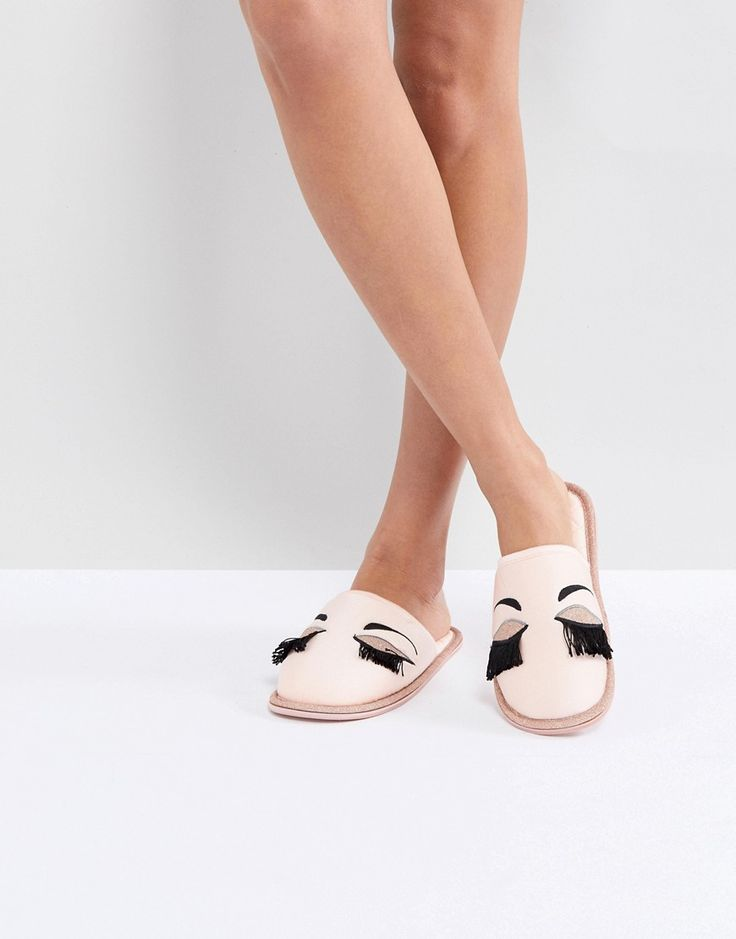 Carvela Closed Eyelash Slipper - Pink