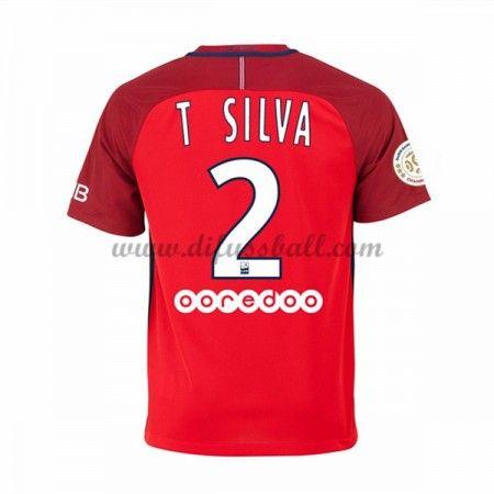 Neues Paris Saint Germain Psg 2016-17 Fussball Trikot T. Silva 2 Kurzarm Auswärtstrikot Shop