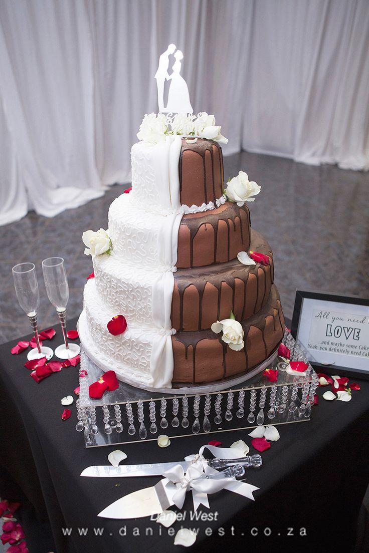 Beautiful chocolate and vanilla cake www.danielwest.co.za