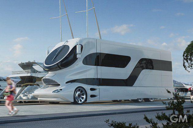 世界1豪華なキャンピングカー、2億3000万円。