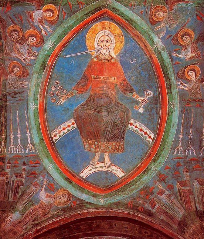 CATEDRAL DE ANAGNI. Cripta.  Cristo en la Jerusalén celestial. Anónimo Románico. Siglo XII.