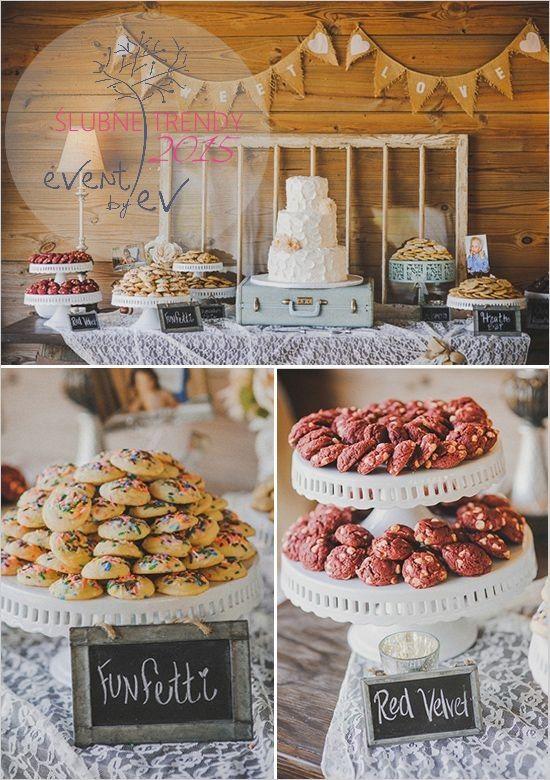 ciasteczkowy słodki stół /wedding cookie bar