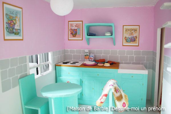 diy tutoriel fabriquer maison de barbie cuisine maisons de poup es pinterest maison de. Black Bedroom Furniture Sets. Home Design Ideas