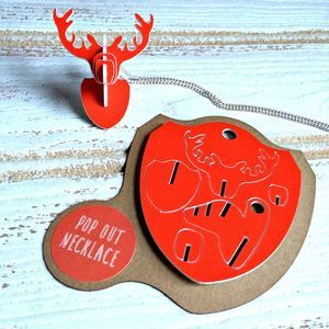 Lasercut 'Pop Out' Stags Head Necklace - necklaces & pendants