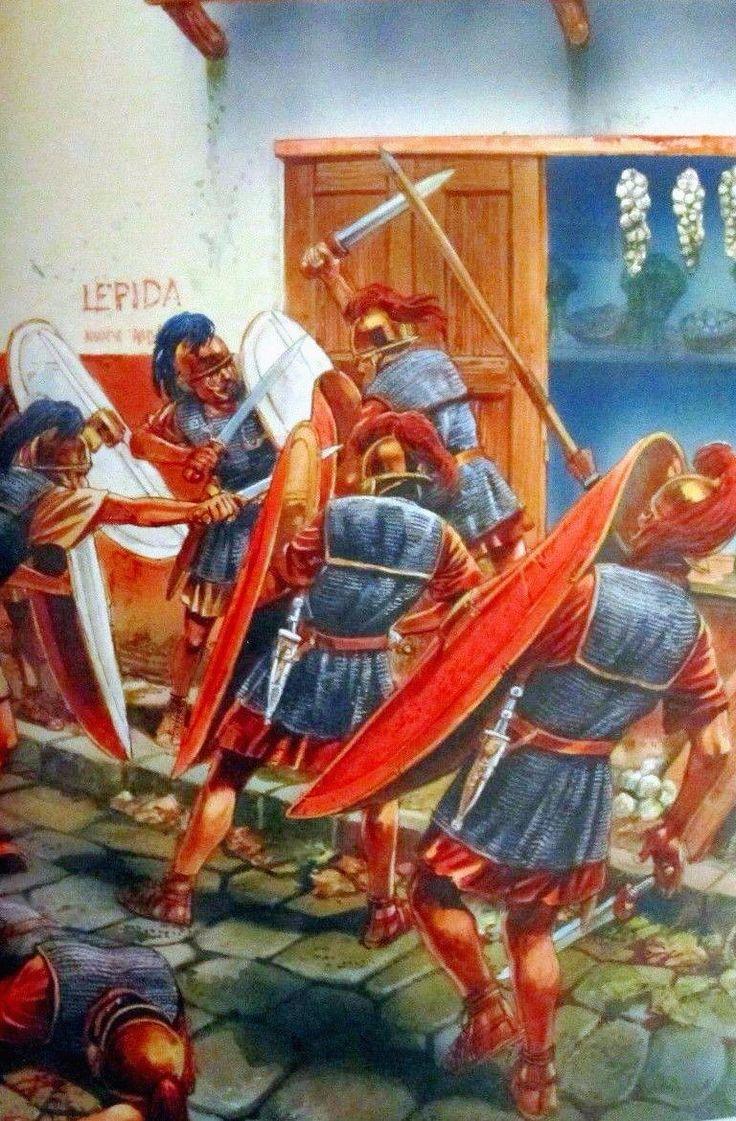 Городская стычка между легионерами. Гражданские войны, I в. до н.э. Художник Peter Dennis.