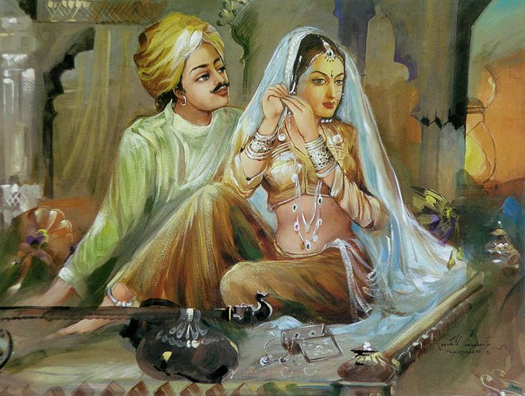 Baz Bahadur and Rani Rupmati (Reprint on Paper - Unframed))
