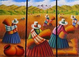 Resultado de imagen para cuadros mexicano mujer canasto de con frutas