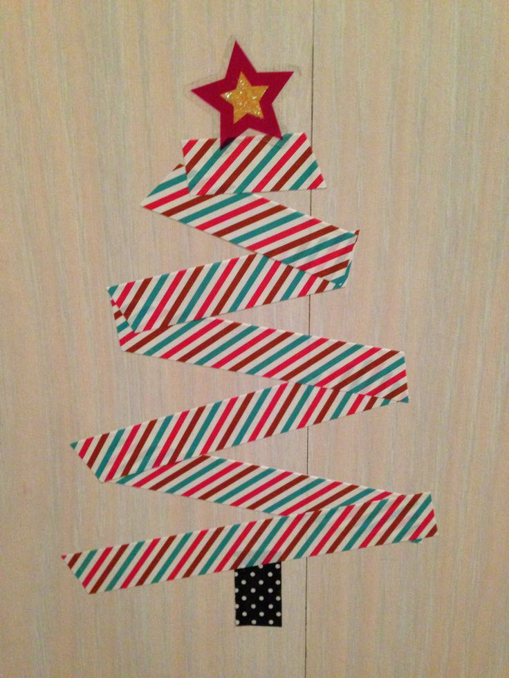 My Washi Tape Christmas Tree. Because the other Washi tape trees looked to plain