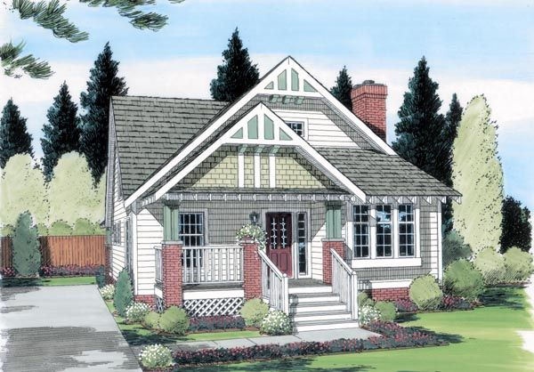 House Plan 24242 | Bungalow Craftsman Plan with 1595 Sq. Ft., 4 Bedrooms, 3 Bathrooms