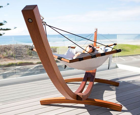 Enjoy your outdoor anytime anywhere with this Modern Free Standing Hammock!