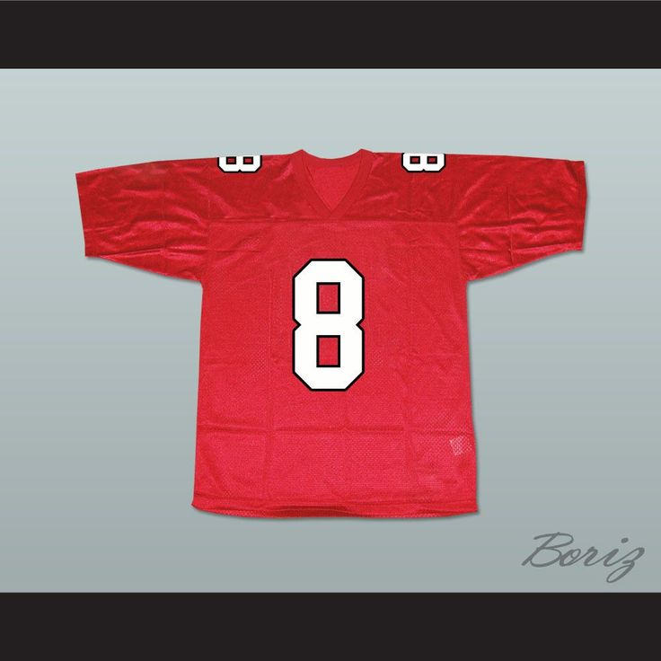 """Tina Cohen-Chang 8 William Mckinley High School Football Jersey. I HAVE ALL SIZES and can change Name and Number(Width of your Chest)+(Width of your Back)+ 4 to 6 inches to account for space for a loose fit.Example: 18"""" wide chest plus 18"""" wide back plus 4"""" of space, would be a size 40"""".Please consider ordering a larger size, if you plan to wear protective sports equipment under the jersey.size chart chest:XS 30""""-32"""" Chest Measurement (76-81 cm)S 34""""-36"""" Chest Measurement (86-91 cm)M 38""""-40""""…"""