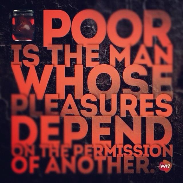 Poor is the man...