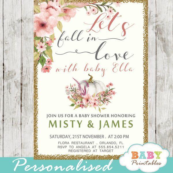 Fall Love Shower Invitations