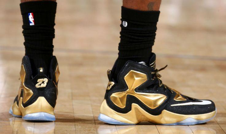 Black/Gold Nike LeBron 13 PE