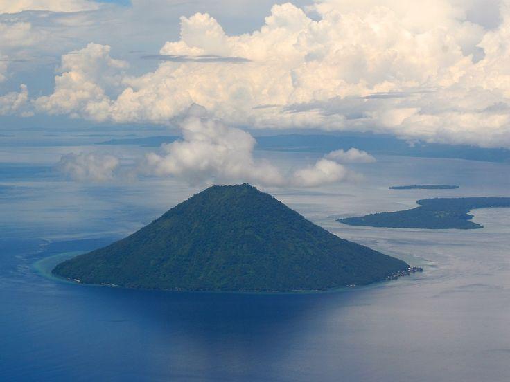 Manado Tua Island seen from the sky - Manado