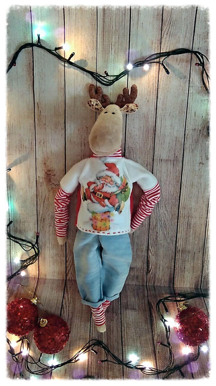 Новогодний Лось, Олень (Christmas elk, deer) by TatyanaSavkoDolls on Etsy
