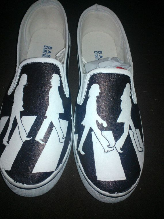 The Beatles hand painted shoes by LoveInspiredGoods on Etsy, $40.00