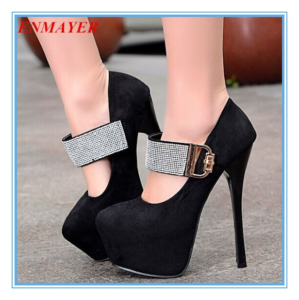 Cheap Pumps, Buy Directly from China Suppliers:       ENMAYER Big size 34-47 Sexy High Heels Round Toe Platform Women Ankle Boots Color Match Spring Winter
