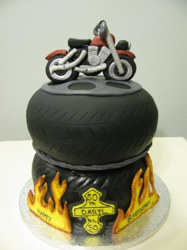 Vintage Bmw Motorcycle Birthday Cake