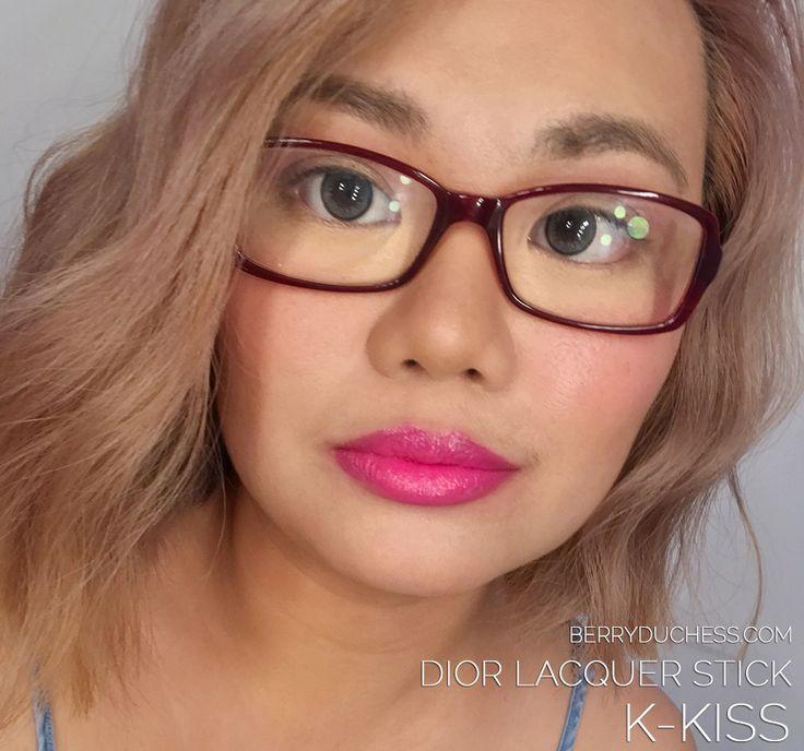 DIOR Lacquer - K-Kiss; hot pink lipstick;