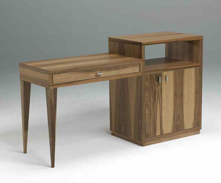 The Royal Room desk forms part of this stunning room range in American walnut. A free-standing piece available in one size in a choice of left or right desk formation. #contractfurniture #hotelfurniture #desk