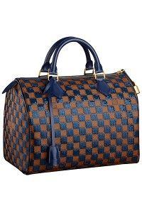 Louis Vuitton Blue Damier Paillettes Speedy 30 Bag