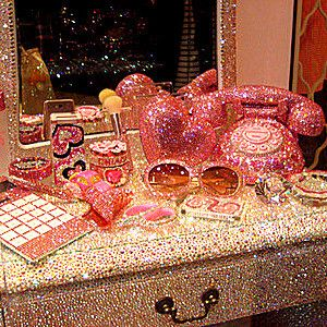 This would be my dream bathroom  yes, I would have everything in this photo just the way it is. Go girly girls.